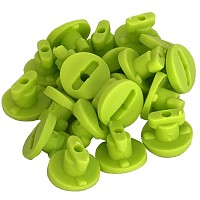 Moveandstic tube clips, set with 20 clips applegreen