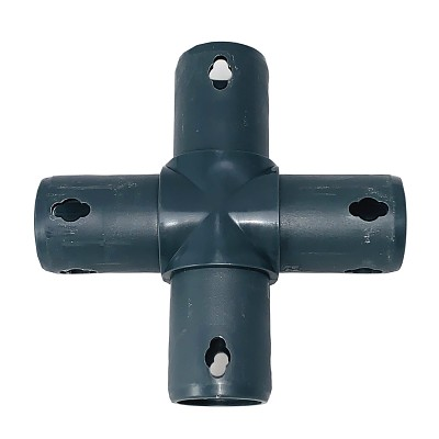Moveandstic 4 way cross connector, gray