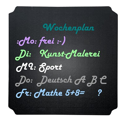 Moveandstic panel 40x40 cm incl. blackboard film as painting board, standing board