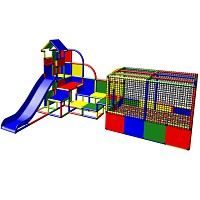 Moveandstic - Big Play Tower with Ball Pool and Slide