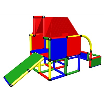 Moveandstic Fabian - play house with roof and a slide for small children