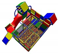Mia - Play Structure with Ball Pool, 2 Towers and Toddler Slide