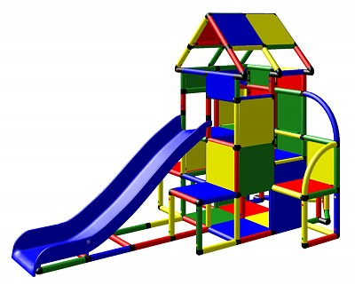 Moveandstic Lisa - Climbing Tower with Slide and Attachment