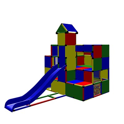 Moveandstic - Climbing Castle with Ball Pool inside and Slide