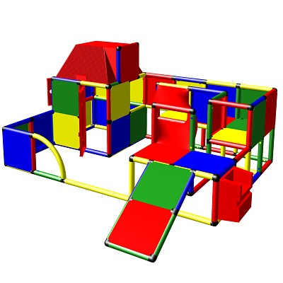 Moveandstic Lara - Play Landscape with Play House and Slide