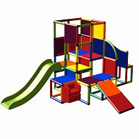 Moveandstic Josefine - Big climbing tower with stair and 2 slides