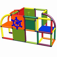 Moveandstic Sven - play center with door, steeling wheel and phone, multicolor