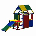 Moveandstic Lennard play house with podium and toddlers slide, window and door