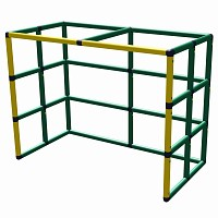 Moveandstic hockey goal 165x125x85 yellow - green incl. aluminium
