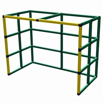 Moveandstic hockey goal 165x125x85 yellow - green incl. aluminium