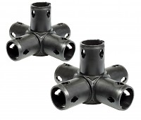 Moveandstic 5 way connector, black - Set of 2