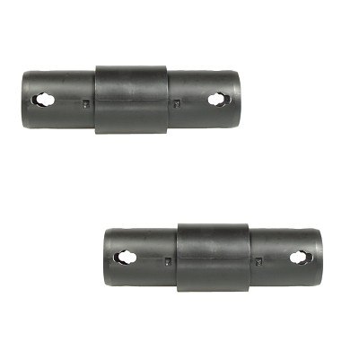 Moveandstic 2 way connector straight, black - Set of 2