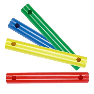 Moveandstic Set of 4 Tubes 35 cm, green, blue, yellow, red