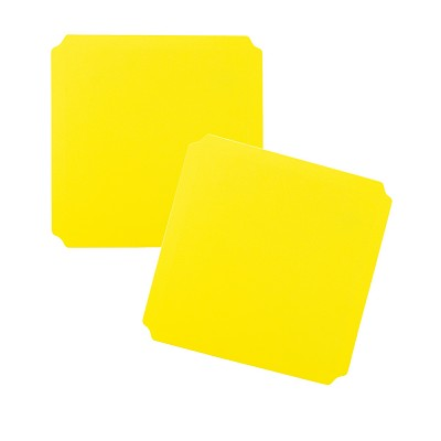 Moveandstic panel 40x40 cm, yellow - Set of 2