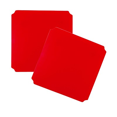 Moveandstic panel 40x40 cm, red - Set of 2