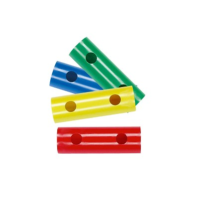 Moveandstic Set of 4 Tubes 15 cm, green, blue, yellow, red