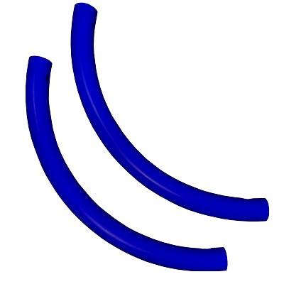 Moveandstic curved tube, blue, Set of 2