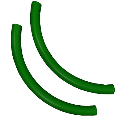 Moveandstic curved tube, green, Set of 2