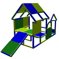 Moveandstic Playhouse for toddlers with entrance and baby slide