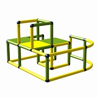 Moveandstic Sonja - climbing area , apple-green, yellow