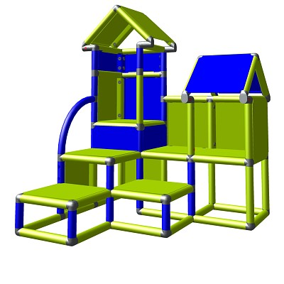 Moveandstic David green-blue - climbing tower for children