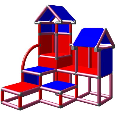 Moveandstic David Blackberry blue red - climbing tower for children