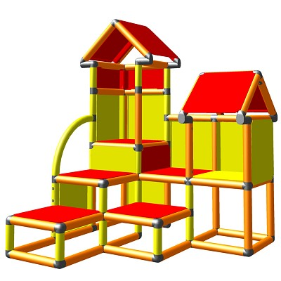 Moveandstic David orange yellow red - climbing tower for toddlers