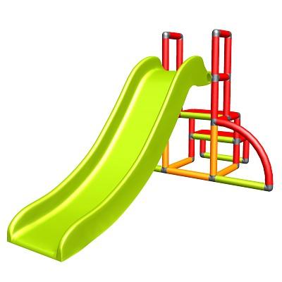 Moveandstic - my first slide Alma - red orange green - baby slide with starter set