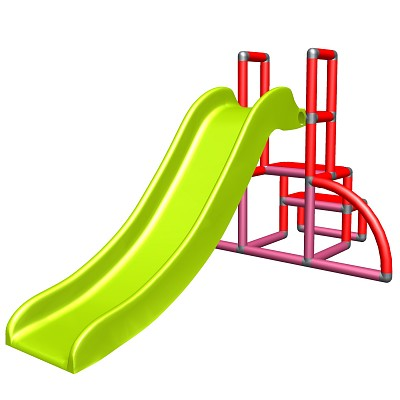 my first slide Alma - red magenta apple-green baby slide with entrance set Easy - garden slide - MAS children slide