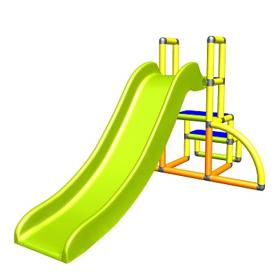 my first slide Alma - baby slide with entrance set yellow orange apple-green Easy garden slide MAS children slide