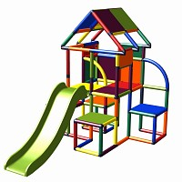 Moveandstic - Lina play tower with slide multicolor