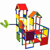 Moveandstic - play-and climbing castle Franz in multicolor