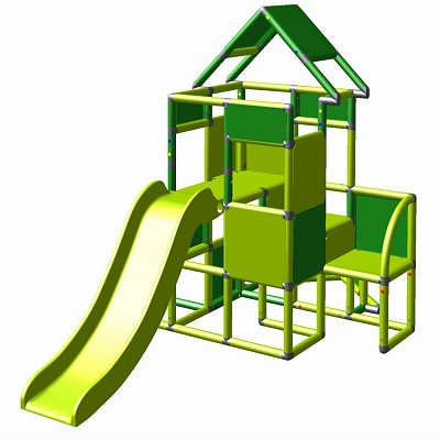 Moveandstic Lisa - big tower with slide apple-green/ green