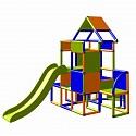 Moveandstic Lisa - big tower with slide orange/ blue/ apple-green