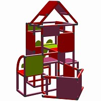 Lisa - Climbing Tower with Slide and Attachment, magenta/red
