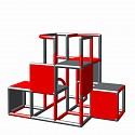 Moveandstic Profi construction kit - red and titanium gray