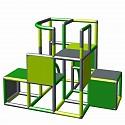 Moveandstic Profi construction kit - green, apple green and titanium gray