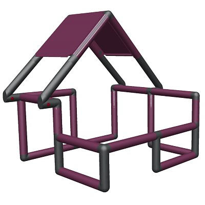 Moveandstic Basic Construction Kit, magenta