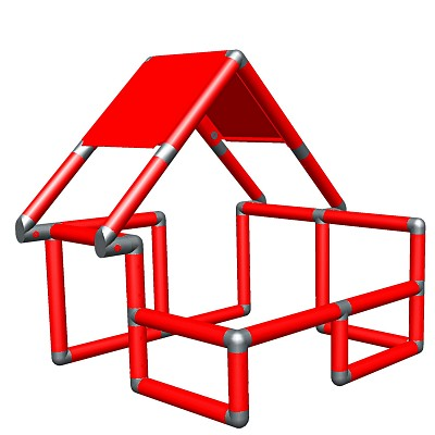 Moveandstic Basic Construction Kit, red