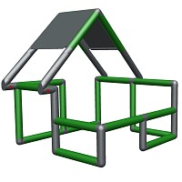 Moveandstic Basic Construction Kit, green