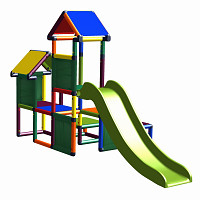 Gesa - Climbing Tower for Toddlers with Slide and Fabric Inserts, multicolor