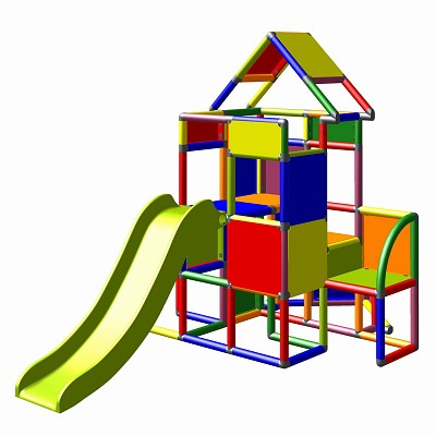 Moveandstic - Climbing Tower Outdoor Playhouse with Slide