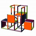 Moveandstic - Construction kit profi apple green - titanium grey - orange - magenta