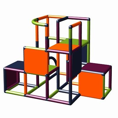 Moveandstic - Construction kit profi apple green - titanium grey - orange - magenta