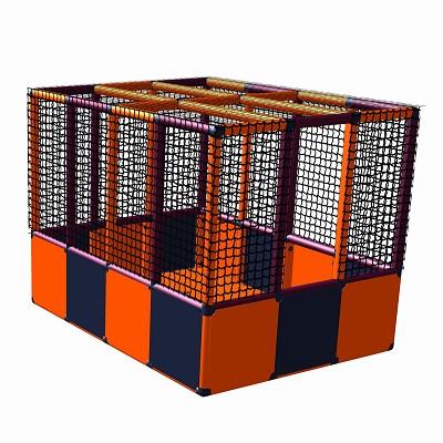 Moveandstic Karl - ball pit with bottom - orange - titanium-grey