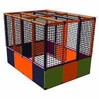 Moveandstic Lucy - ball pit - orange - magenta - titanium-grey - apple-green