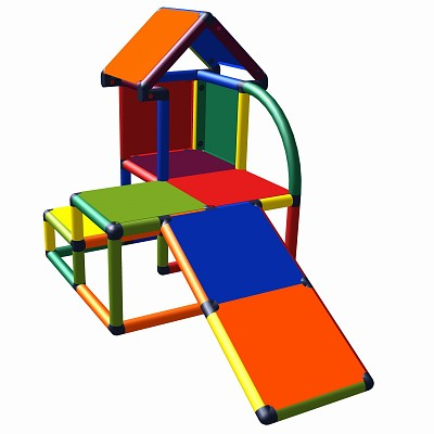 Moveandstic Mila - my little house with slant multicolor