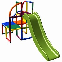 Moveandstic-Olaf play tower with slide multicolor
