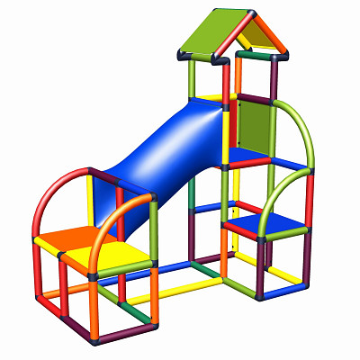 Moveandstic Felix - Climbing Tower with Crawling Tube and Exit in multicolor