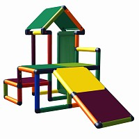 Moveandstic Nemo - play house with slide and pattern